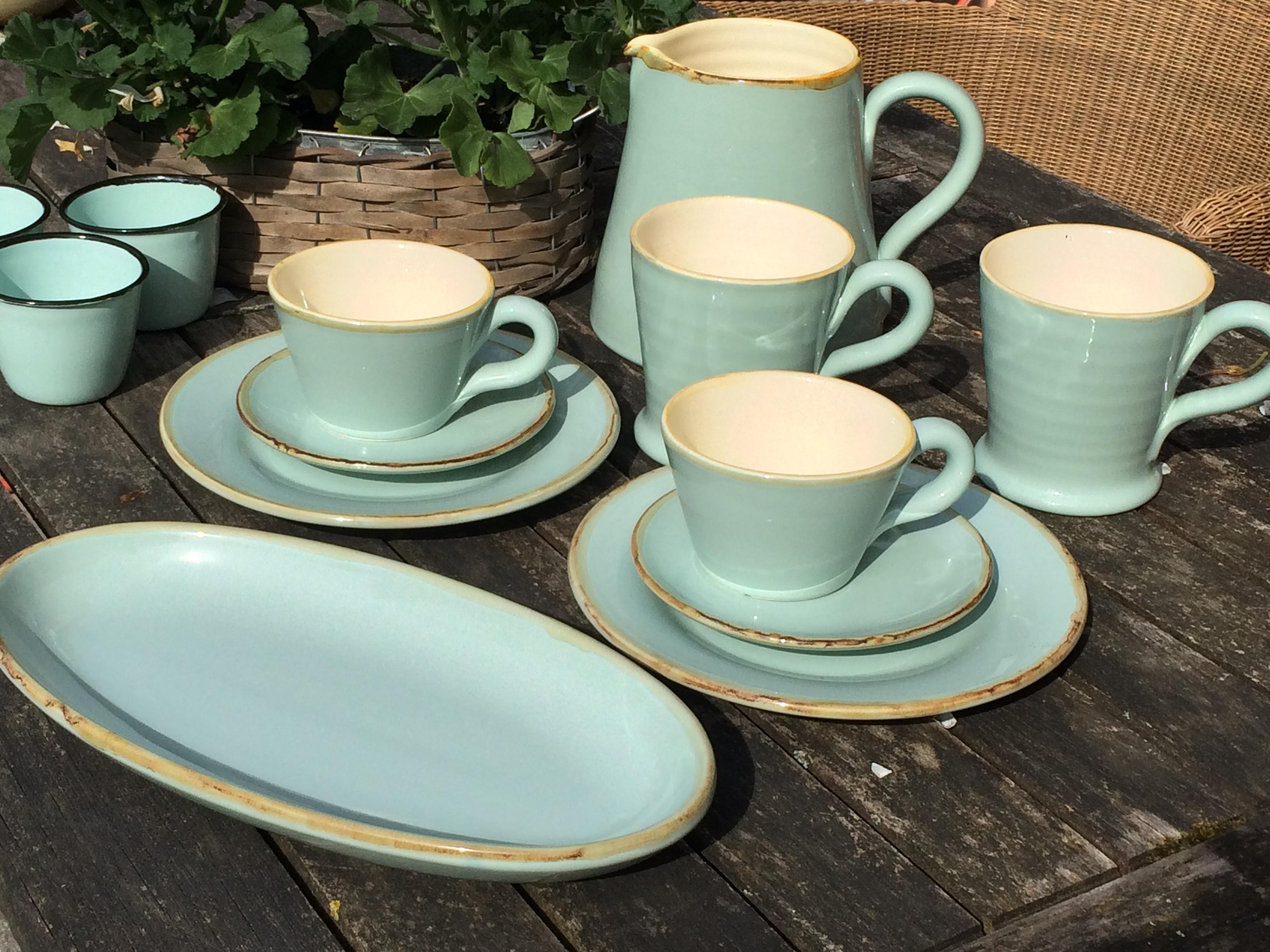 Ital. Keramik grün &form