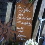 Schilder für den GArten