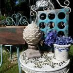 Steingussfiguren, Tische und Zubvehör