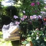 Gartenbank mit Matraze und Kissen